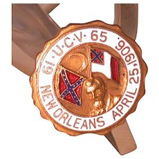 United Confederate Veterans 1906 New Orleans Convention Hatpin - Red Tag Sale Item