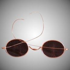 "Antique 10K Gold Eyeglasses, Marked ""Stevens & Co."""