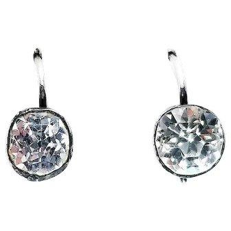 Victorian Sterling Silver Diamond Paste Earrings