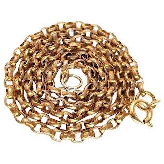 Fine Victorian Rolled Gold Belcher Chain