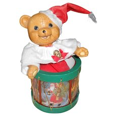 "1980's Teddy Bear Music Box Playing ""Jingle Bell's"""