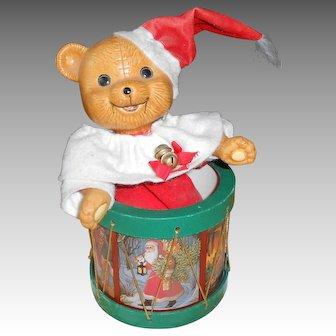 "1980's Teddy Bear Music Box Playing ""Jingle Bell's"""