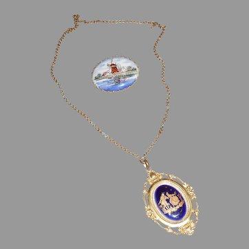 Souvenir Pin & Necklace