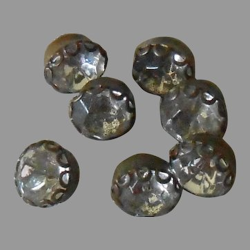 1940's Buttons With Rhinestones