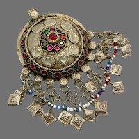 Afghan Pendant, Middle Eastern, Vintage Pendant, Jewels, Hair Ornament, Tassel, Pakistan, Nomadic, Kuchi, Gypsy