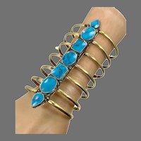 Turquoise Bracelet, Afghan, Wide Cuff, Vintage Bracelet, Kuchi, Turkoman Gypsy, Tribal, Belly Dance, Statement