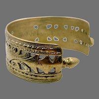 Afghan Cuff, Kuchi Bracelet, Pierced Metal, Silver Metal, Vintage Bracelet, Middle Eastern, Gypsy, Ethnic, Nomad, Tribal, Boho, Bohemian #3