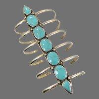 Turquoise Bracelet, Afghan, Middle Eastern, Wide Cuff, Vintage Bracelet, Kuchi, Turkoman Gypsy, Tribal, Belly Dance, Statement