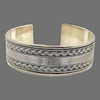 Afghan Cuff, Old Silver, Kuchi Bracelet, Silver Cuff, Boho, Vintage Bracelet, Middle Eastern, Turkmen, Ethnic
