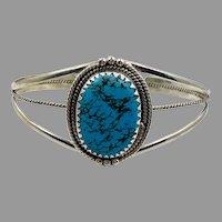 Turquoise Cuff, Sterling Silver, Cuff Bracelet, Vintage Bracelet, Native American, Navajo