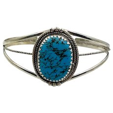 Turquoise Cuff, Sterling Silver, Cuff Bracelet, Vintage Bracelet, Native American, Navajo
