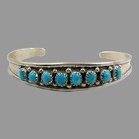 Turquoise Cuff, Native American, Vintage Bracelet, Snake Eye, Turquoise Bracelet, Zuni, Southwestern,Stacking, Layer