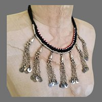 Boho Necklace, Gypsy, Middle Eastern, Vintage Necklace, Nomad, Afghan Jewelry, Dangles, Kuchi Jewelry, Turkmen, Boho Statement, Bohemian