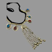 Kuchi Necklace, Afghan, Coins, Dangles, Vintage Necklace, Middle Eastern, Gypsy, Banjara, Turkomen, Boho, Ethnic, Tribal