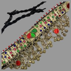 Afghan Choker, Anklet, Arm Band, Vintage Necklace, Kuchi, Middle Eastern, Blue, Green, Red, Belly Dance, Bollywood, Gypsy, Big Statement