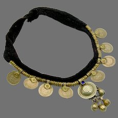 Boho Necklace, Kuchi, Gypsy, Afghan Jewelry, Coins, Vintage Necklace, Belly Dance, Turkomen, Boho Statement, Bohemian, Ethnic Tribal