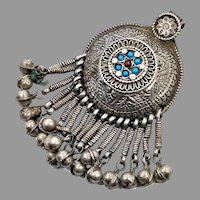 Old Silver Pendant, Balochi Tribe, Vintage Pendant, Middle Eastern, Afghan, Pakistan, Nomadic, Kuchi, Gypsy