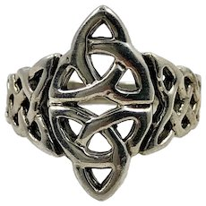 Celtic Knot Ring, Sterling Silver, Size 8, Celtic Band, Vintage Ring, Irish Jewelry