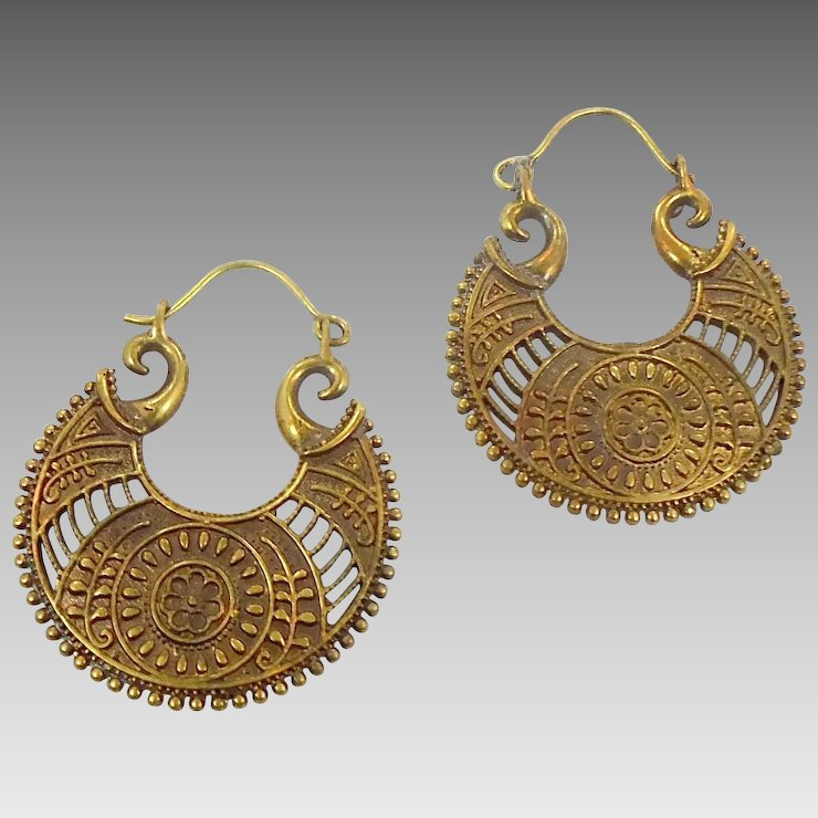 Boho Earrings India Br Statement Vintage Pierced Large Dangle Ethnic