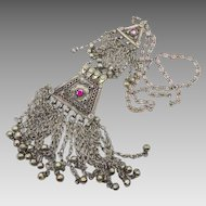 Huge Kuchi Afghan Necklace - Vintage Gypsy Bedouin Ethnic - InVintageHeaven