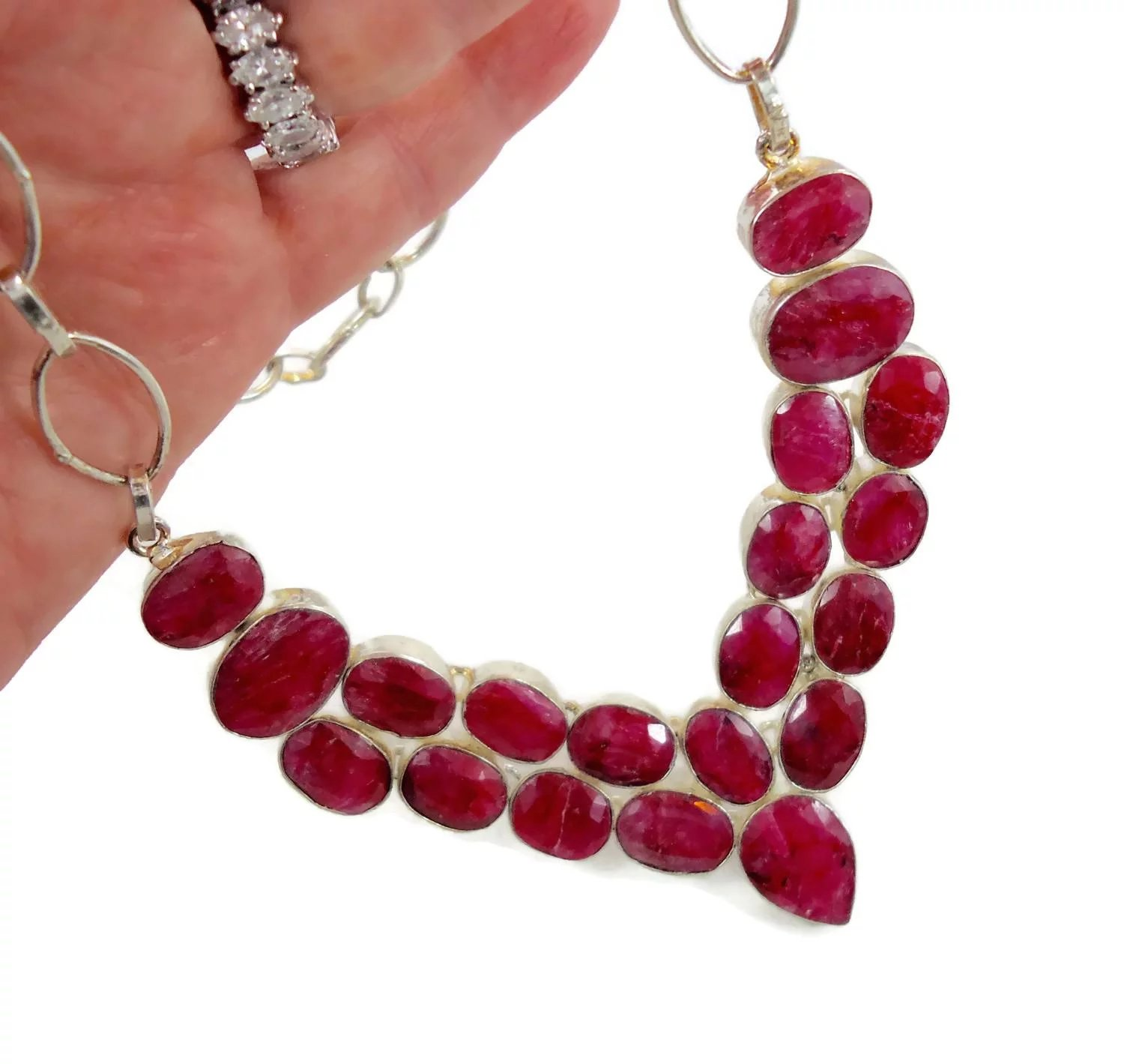 jewellery jewelry catalog carat diamond necklace ruby wg