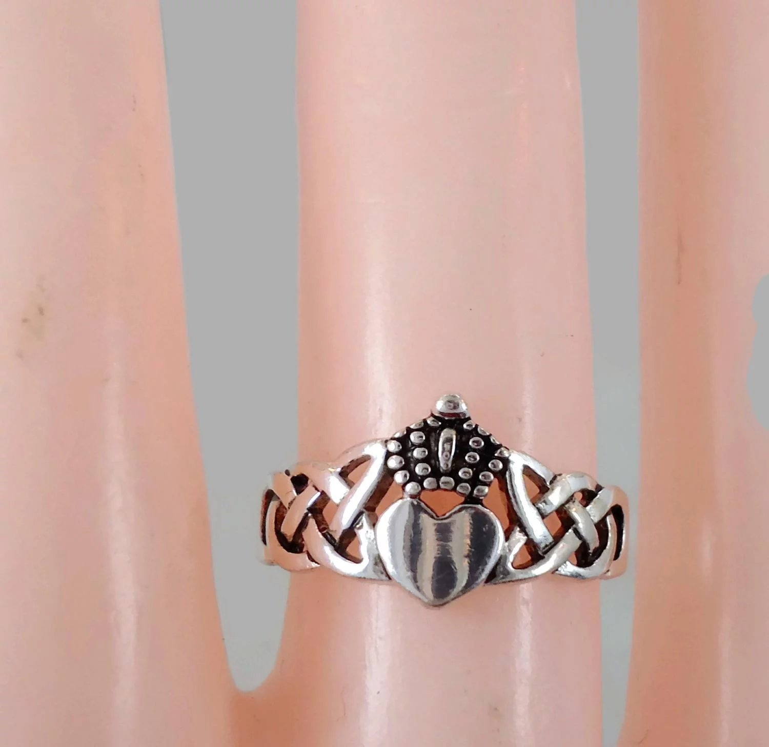 Claddagh Ring, Sterling Silver, Celtic Knot, Vintage Ring, Irish ...