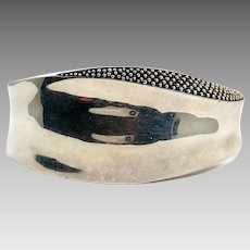Modern Cuff, Sterling Silver, Vintage Bracelet, Cuff Bracelet, Designer, Michael Dawkins, Contemporary, Granulated Silver, Starry Night