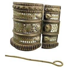 Afghan Bracelet, Vintage Bracelet, Hinged, Wide, Small Wrist, Middle Eastern, Kuchi Cuff, Ethnic, Tribal Gypsy