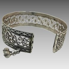 Old Silver Bracelet, Vintage Bracelet, Filagree Bangle, Afghan Bracelet, Middle Eastern, Pakistan, Nomadic, Detailed Ornate