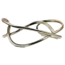 Sterling Cuff, Silver Bracelet, Sterling Silver, Vintage Cuff, Minimalist, Jean Newlin, Modern, Contemporary