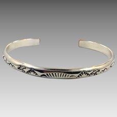 Sterling Silver Cuff, Vintage Bracelet, Native American, Bird, Bear, Lynn Edsitty, Symbols, Signed, Stamped, Stacking, Cuff Bracelet
