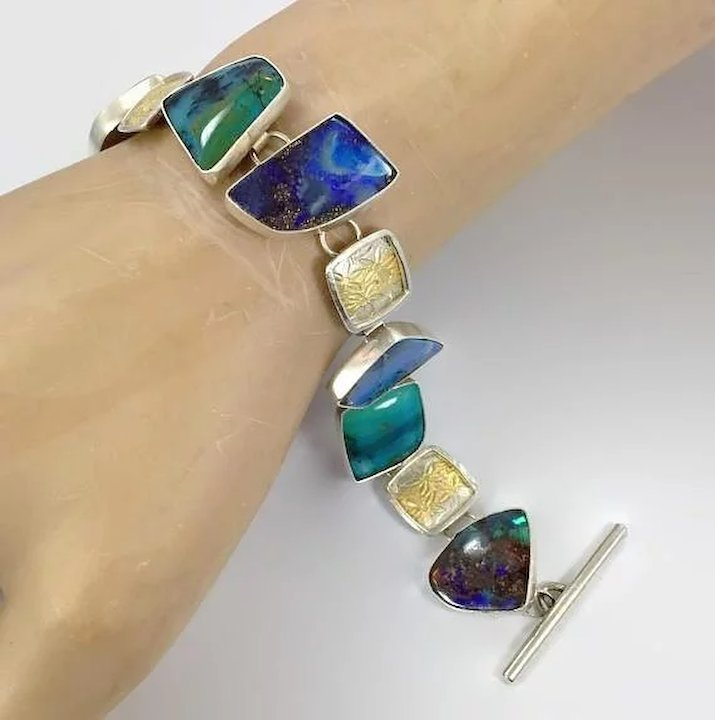 in silver zhhiry item gemstone color platinum solid bracelets plated bracelet jewelry women natural jewellry real bangles sterling gold rose from accessories opal fire on and