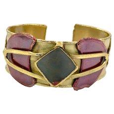Modern Bracelet, Mixed Metals, Brass, Copper, Vintage Cuff, Contemporary Cuff, Geometric Design