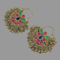 Hoop Earrings, Boho, Kuchi Earrings, Ear Weights, Vintage Earrings, Middle Eastern, Ethnic Jewelry, Tribal Afghan