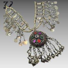 Afghan Necklace, Massive, Kuchi, Vintage Necklace, Middle Eastern, Chains, Dangles, Gypsy, Nomadic, Festival Jewelry, Huge, Big, Jewels