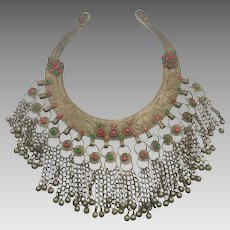 Kuchi Necklace, Torque, Torc, Vintage Necklace, Massive, Choker, Afghan, Heavy Metal, Collar Necklace, Vintage Jewelry, Middle Eastern, Boho