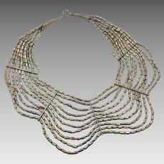 Boho Necklace, Big, Massive, Multi-Strand, Metal Beads, Vintage Necklace, Oversized, Huge, Statement, Ethnic, Tribal, Bohemian