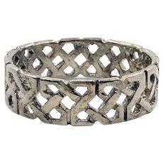 Celtic Knot Ring, Sterling Silver, Celtic Band, Vintage Ring, Irish Jewelry, Size 11, Irish Wedding Band