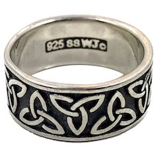 Celtic Knot Ring, Sterling Silver, Vintage Ring, Irish, Size 7, Celtic Band