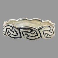 Celtic Knot Ring, Sterling Silver, Size 14, Celtic Band, Vintage Ring, Irish Jewelry, 925, Irish Wedding Band, Unisex, Mens