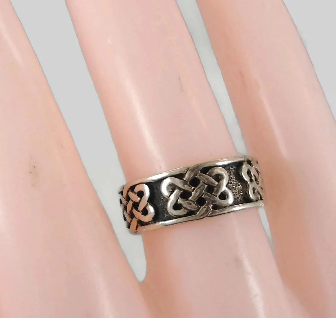 Celtic Knot Ring, Sterling Silver, Celtic Band, Vintage Ring, Irish ...