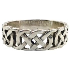 Celtic Knot Ring, Sterling Silver, Size 10, Celtic Band, Vintage Ring, Irish Jewelry, 925, Irish Wedding Band, Mens Ring