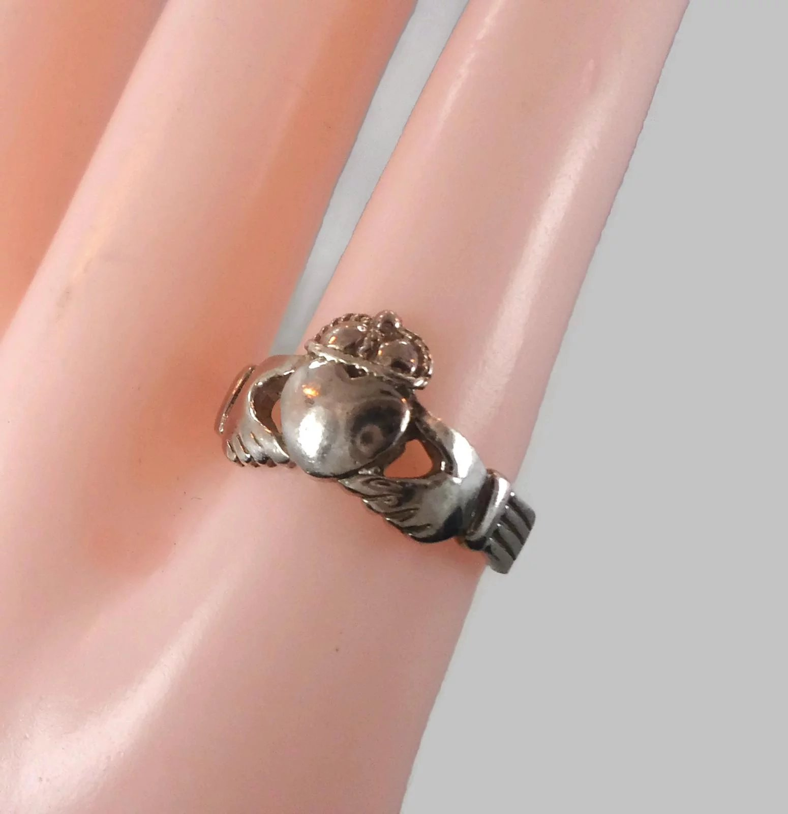 Claddagh Ring, Sterling Silver, Celtic Jewelry, Vintage Ring, Irish ...