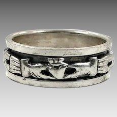 Claddagh Ring, Sterling Silver, Size 9, Vintage Ring, Ring Band, Irish Jewelry, Irish Wedding