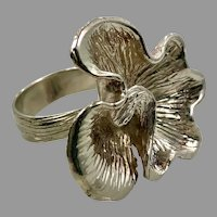 Flower Ring, Sterling Silver, Organic, Vintage Ring, Size 7, Unique, Contemporary
