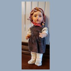 "Vintage Goebel/MJ Hummel ""Gretl"" Doll, Original Clothing Vinyl 11"""