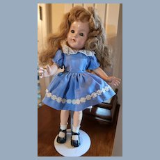 "15"" Effanbee Doll Marked Head and Shoulder Anne Shirley TLC"