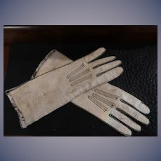 Leather fashion gloves for Antique Doll