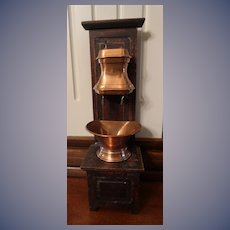 Outstanding Antique French Hanging Copper Water Fountain With Lavabo FREE Ship USA