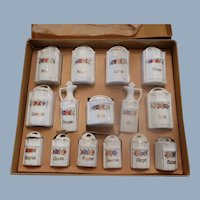 Complete Miniature Canister/Spice Set Original Box Germany